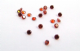 2.5mm Round Garnet Cubic Zirconia (pk of 10)